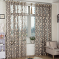 2015 New Arrival Window Screening tulle leaf nature modern curtains for living room chinese sheer curtain
