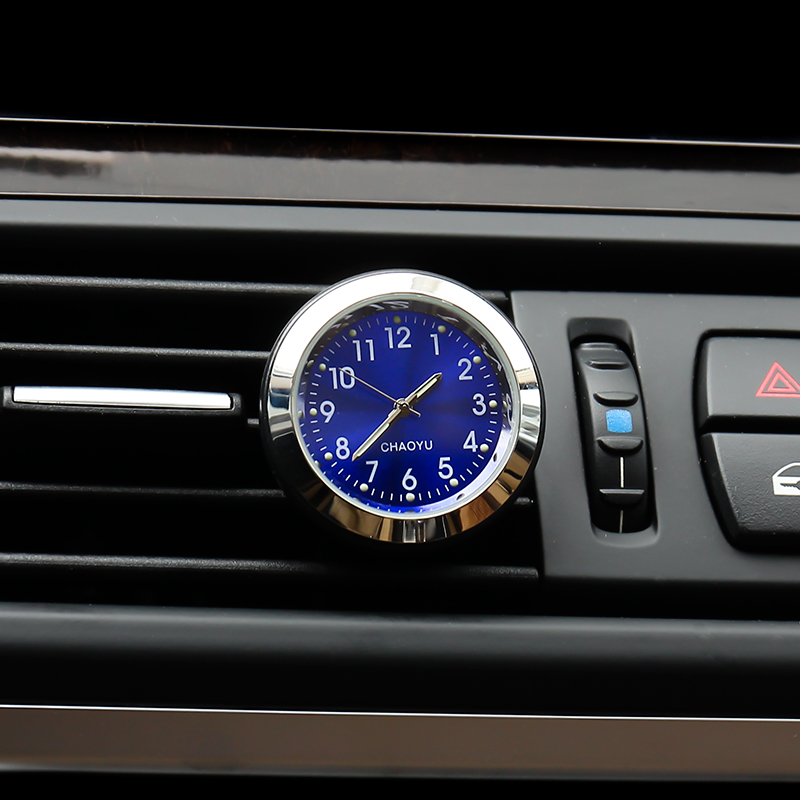 YIKA Fashion Luminous Clocks Thermometer Style Car Air Freshener Auto Aroma..