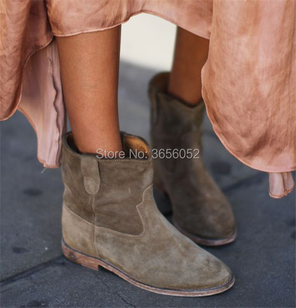 LTTL-New-Arrival-Black-Gray-Taupe-Suede-Ankle-Boots-Casual-Style-Flat-Women-Shoes-Spring-Autumn