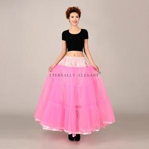 Image 3 - מכירה לוהטת טול חצאית רב צבע תחתונית ארוך לחתונה שמלות תחתוניות 2018 EE6639