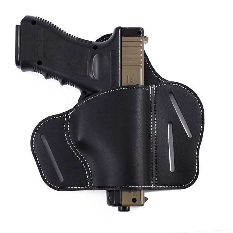 Leather IWB Concealed Carry Gun Holster for Glock 17 19 22