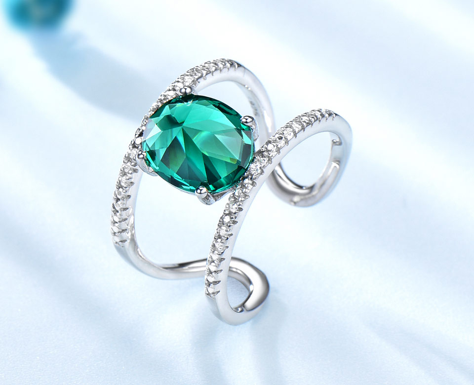 UMCHO-Emerald-silver-sterling-rings-for-women-RUJ074E-1-PC_02