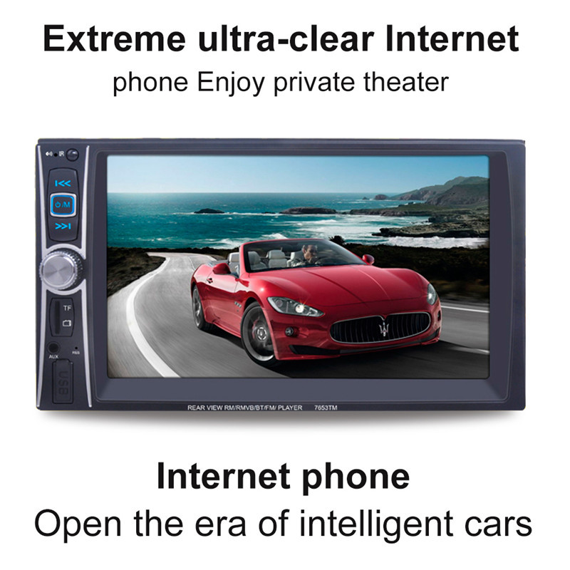 7'' HD 2 Din Car Radio MP5 Player Touch Screen Bluetooth Phone Link Smart Phone Stereo Radio Player MP3/MP4/Audio/Video/USB 7 hd 2din car stereo bluetooth mp5 player gps navigation support tf usb aux fm radio rearview camera fm radio usb tf aux