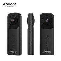 Andoer A360II Handheld 360 degree VR Video Camera Support WiFi Dual 210 degree HD Wide Angle FishEye Lens Panoramic Cam