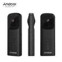 Andoer A360II Handheld 360 degree VR Video Camera Support WiFi Dual 210 degree HD Wide Angle FishEye Lens Panoramic Cam