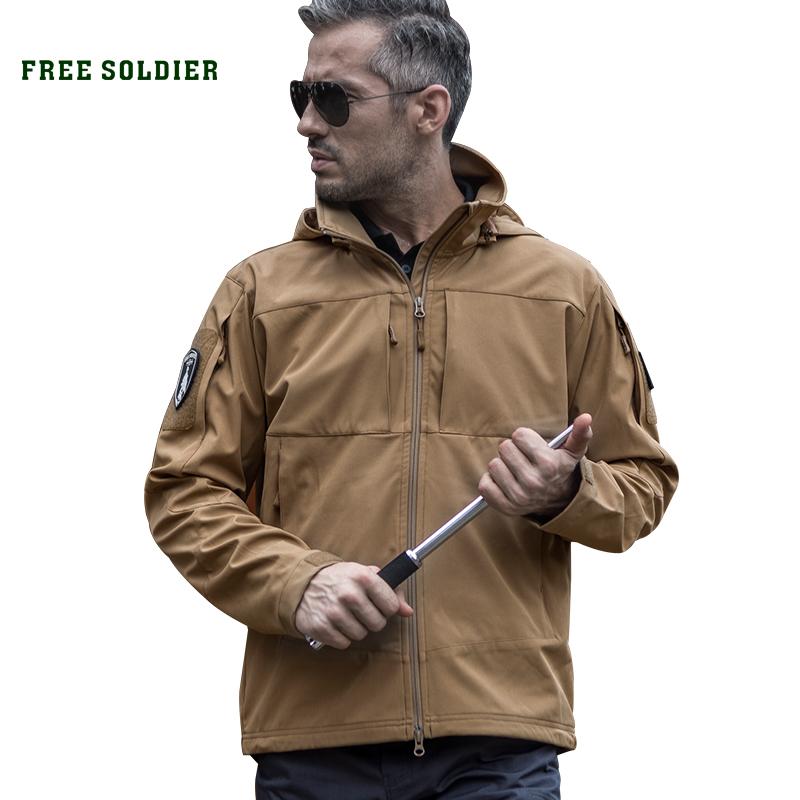 Jacket Free-Soldier Windproof Lining Hiking Outdoor Sports Camping Men With Warm Unfasten