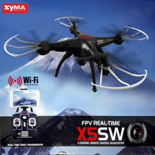 Original SYMA X5SW FPV Drone 2.4GHz 4CH With 0.3MP WIFI Camera Real-Time HD Video 6Axis 3D Flip RC Quadrocopter Helicopter Toys