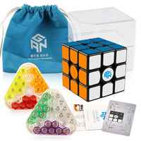 Original New GAN356 X Magnetic Magic Speed Cube Professional 3x3 IPG V5 Magico Cubo Exchange Magnets Puzzle Black Stickerless