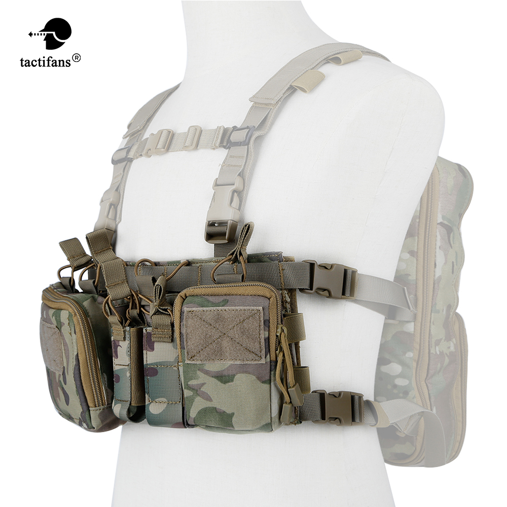 Army Tactical Vest Carrier Armor Chest Rig Harness Rifle Pistol Magazine Pouch CRH Hunting Equipment Accessories