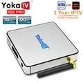 1 Año Europa YOKATV KB2 PRO DDR4 IPTV Android TV BOX Amlogic S912 Octa Core 4 K 3 GB 32 GB Android 6.0 TV BOX UHD 4 K WiFi BT4.0