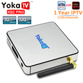 1 Ano IPTV Europa YOKATV KB2 PRO DDR4 Android TV BOX Amlogic S912 Octa Núcleo 4 K 3 GB 32 GB Android 6.0 CAIXA de TV UHD 4 K WiFi BT4.0