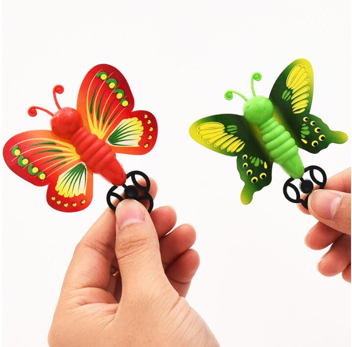 IWish Creative Slingshot Flying Butterfly Toys Colorful Catapult Outdoor Interactive Shooting Games For Kids Children Christmas