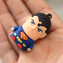 Real Capacity USB Flash Drive 3.0 Pendrive 64GB Pen Drive 1TB 1TB Memory Stick 32gb 16gb 128gb Cartoon Superman Gadgets Toy Gift