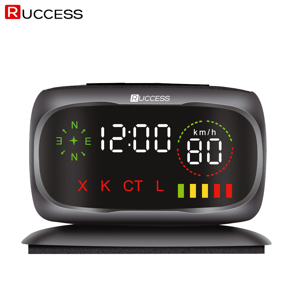 Ruccess S800 Radar Detectors Police Speed Car Radar Detector GPS Russian 360 Degree X K CT