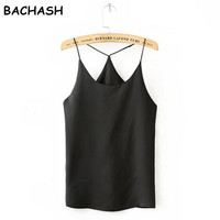 Women Camisole Women Solid Camis 2017 Summer Style Sexy Sleeveless Vest Slim White Crop Top Women