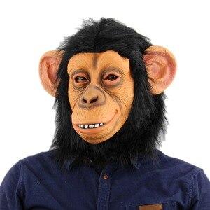 Maski zwierząt małpa maska lateksowa głowa zwierzęcia maska na halloween kostium nowość małpa goryl maska na twarz dekoracje