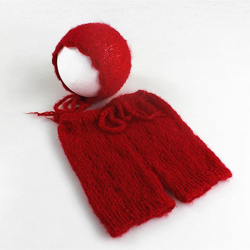 Mjuka Mohair Nyfödda Fotografier Props Kostymer Cap / Hat + Ruffles - Babykläder - Foto 3
