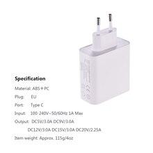 Адаптер питания для Macbook Pro/XIAO MI AIRBOOK/HUAWEI MATE, 45 Вт, PD, зарядное устройство для телефона с разъемом типа C, с функцией зарядного устройства, подходит для моделей Macbook Pro/XIAO MI