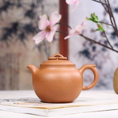 2018 new style 300ml Yixing zisha teapot raw ore purple sand pot double ring Kung Fu tea pot gift teaset