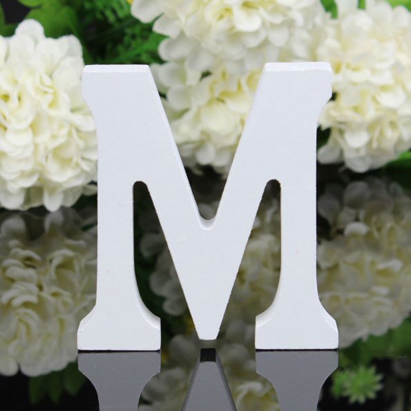 8cm letter m wooden freestanding letters alphabet wedding party home decorations in figurines miniatures from home garden on aliexpresscom alibaba