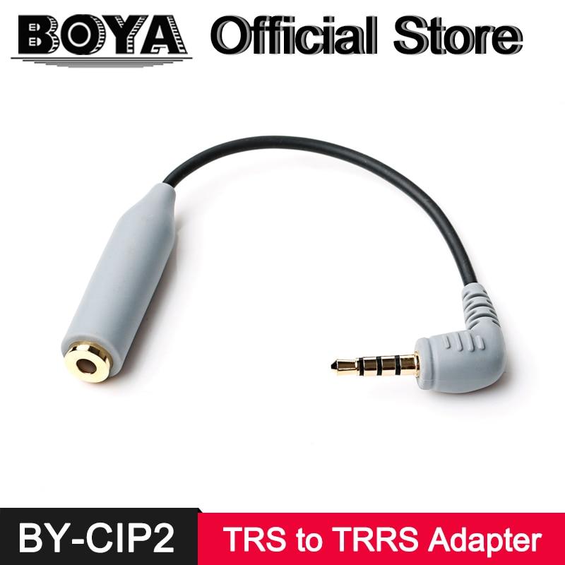 BOYA TRS à TRRS Microphone Adaptateur Câble Convertisseur pour iPhone 7 7 plus 6 6 plus 5 5S iPad iPod tactile Samsung Android SmartPhone