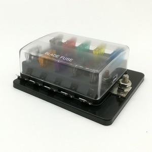 Image 2 - 10 Way Circuit Blade Fuse Box Block Holder Met LED Waarschuwing Licht Kit Voor Auto Van Boot Marine Auto Zekering houder