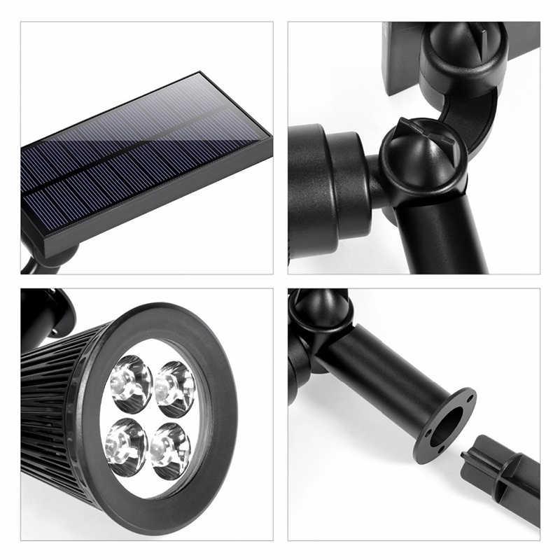 Светодиодный солнечный свет 4 светодиодный ABS WaterproofIP44 энергия солнечной батареи на солнечных батареях Сад Открытый бордовый RGB/WarmWhite/белый светодиодный лампа на солнечной батарее