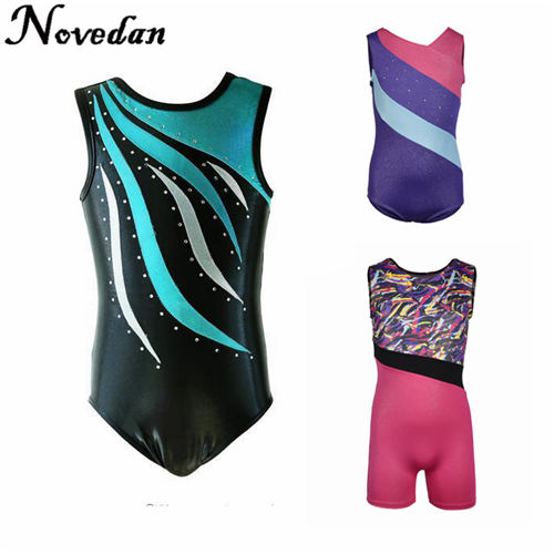 2Pcs Girls Dance Outfit Kids Ballet Latin Gymnastics Leotard Dancewear Costumes