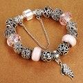 Venda promoção Antique 925 Prata Charme Pulseiras Com Pingentes de Asa Fit Pandora Bracelet para As Mulheres de Casamento