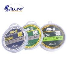 iLure leada 100% carbon fiber fluor fishing lines carbon fiber 30mt 50mt 100mt spool super strong guide 60lb 80lb free shipping