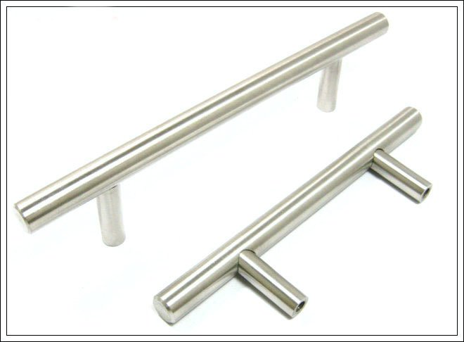 Kitchen cabinet handle bar pull handle solid stainless for Bar handles for kitchen cabinets