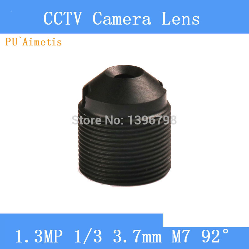 PU`Aimetis CCTV lenses 1.3MP 1/3 HD 3.7mm pinhole surveillance camera 97 degrees infrared M7 lens thread surveillance infrared camera hd 2mp pinhole lens 1 2 7 3 7mm m12 thread cctv lens