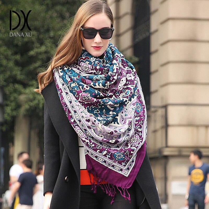 Fashion Luxury Brand Pashmina Echarp Cashmere Scarf Wrap Warm Shawl Winter Scarf Ladies Scarves Tassels Long Blanket Pashmina