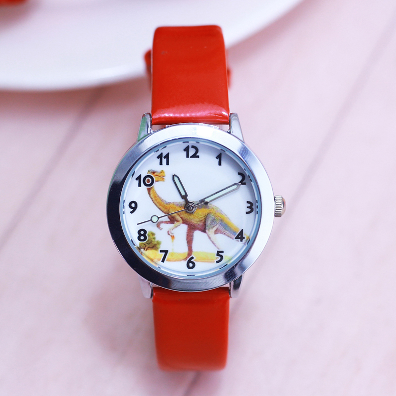 2018 New Children Boys Cool Cartoon Dinosaur Quartz Watches Little Kids Sports Luminous Hands Leather Strap Clock Montre Enfant Watches