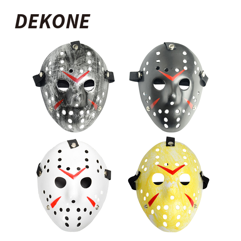 1pcs/lot Black Friday NO.13 Jason Voorhees Freddy Hockey Festival Party Halloween Masquerade Mask (adult Size) 100gram
