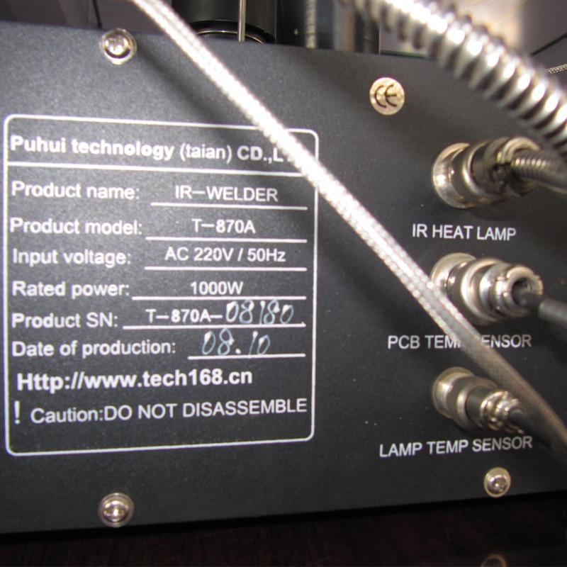 Įgaliota PUHUI T-870A BGA IRDA suvirintojo infraraudonųjų litavimo - Suvirinimo įranga - Nuotrauka 5