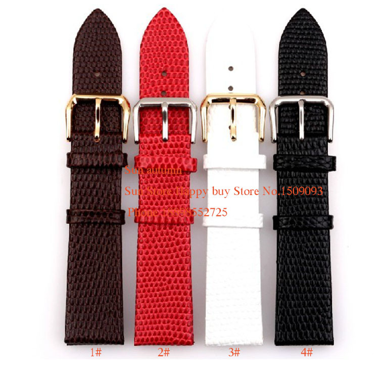 Prix pour NOUVEAU Ultra-mince Lézards Grain Montres Bande Sangles 12 14 16 18 20mm en acier Inoxydable broches dployment fermoir Bracelets Diy libre outils