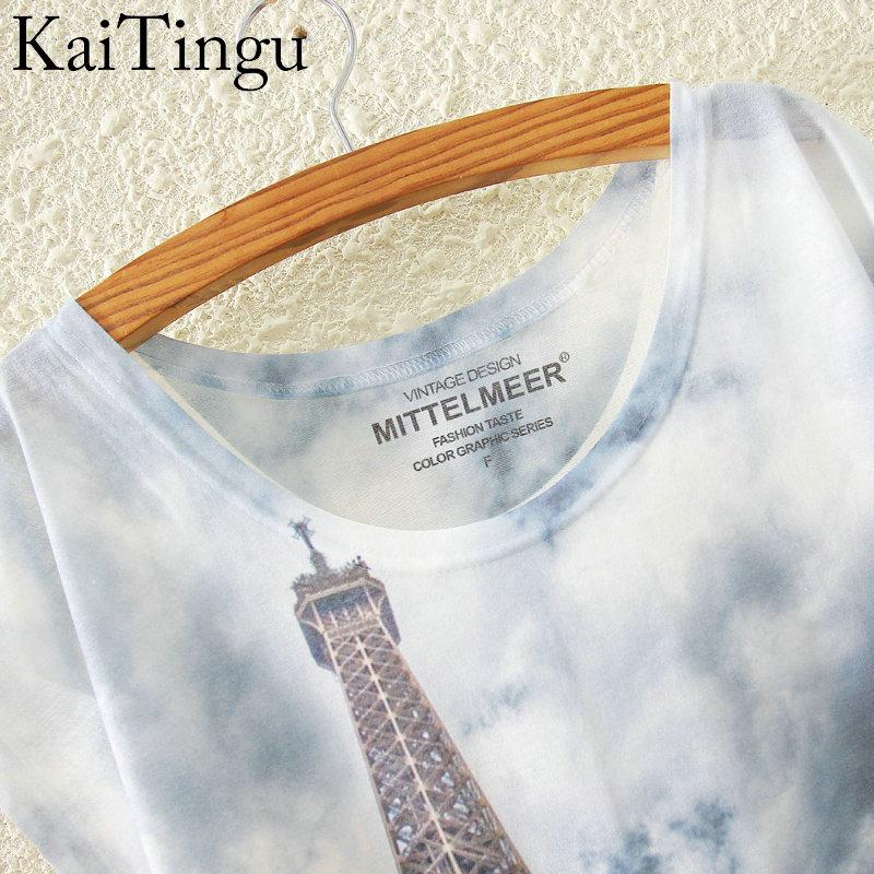 HTB1GYBMKVXXXXb4XXXXq6xXFXXXP - New Fashion Short Sleeve T Shirt Women Tops Eiffel Tower Printed T-shirt