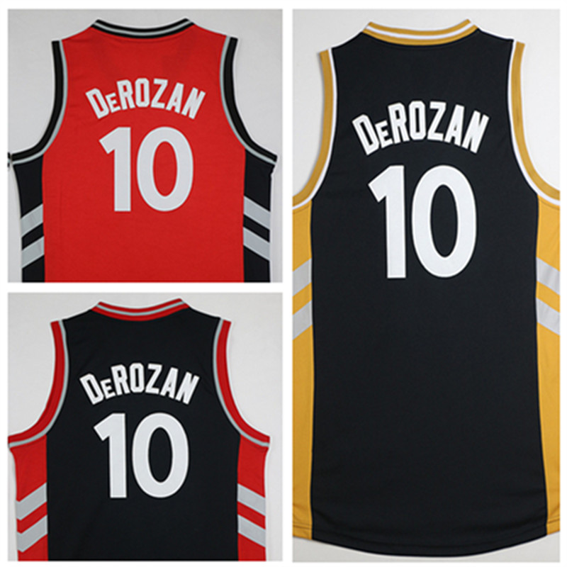 b916d359b58 2016 New style Black Red Gold #10 Demar DeRozan Jersey,New Material Rev 30  Basketball jersey,Best quality Size S-XXL Mix Order