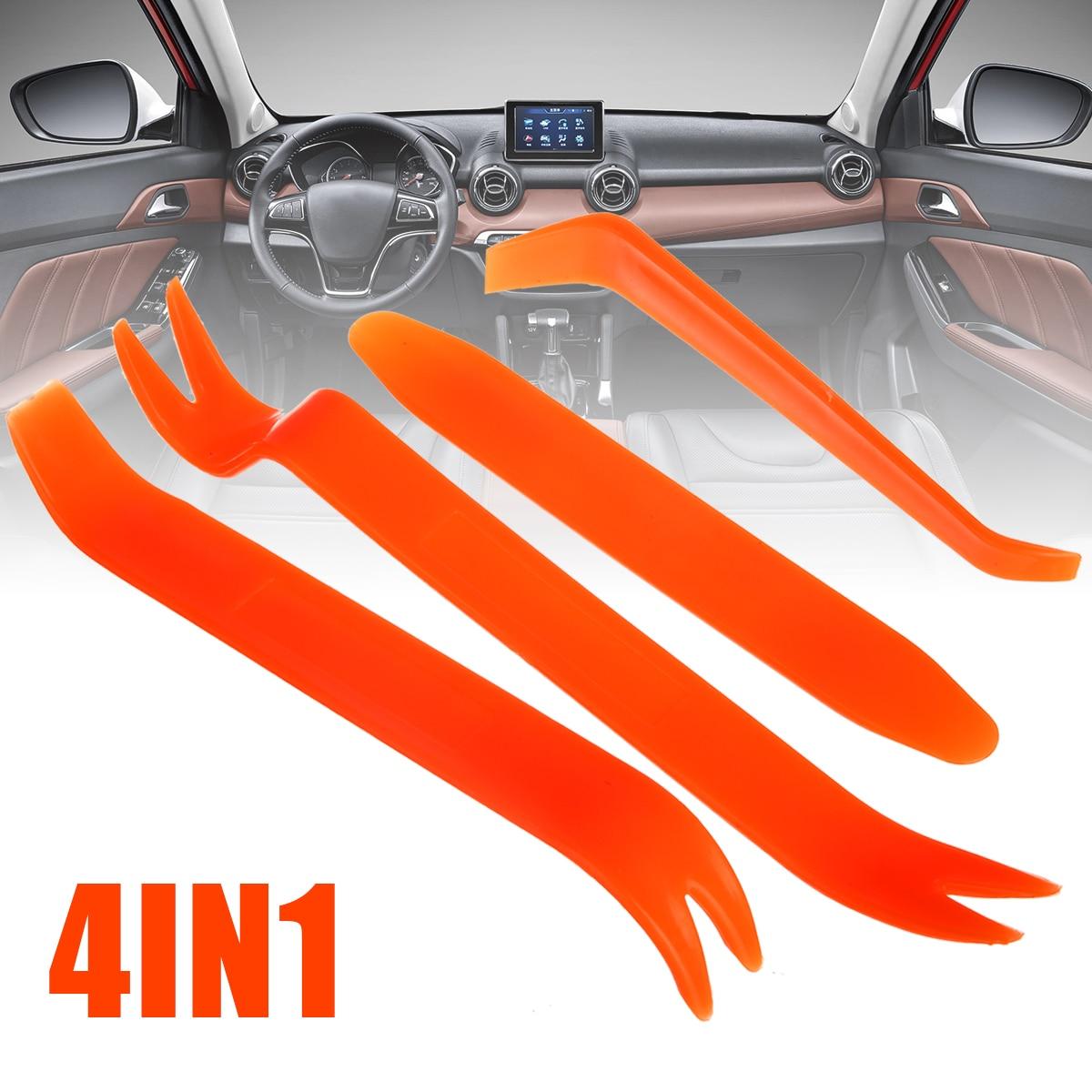 Mayitr 4pcs/set Plastic Car Radio Audio Door Clip Panel Trim Dash Audio Removal Pry Tool Removal Installer Pry Kit Repair Tool