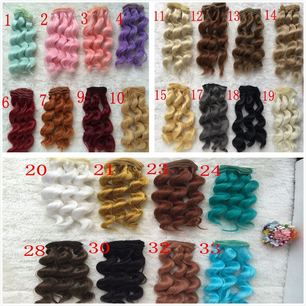 NEW O for U Wavy BJD SD DIY Wigs High-temperature Fiber Wire 1/3 1/4 Dolls Noodle Curly Wig Handmade Hair Wholesale 10Pcs/lot