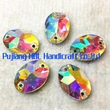 13*18mm 28pcs Oval Loose Beads Sew On Glass Rhinestone Flatback Stone Glass Rhinestones Strass Hotfix Wedding Dress Decoration