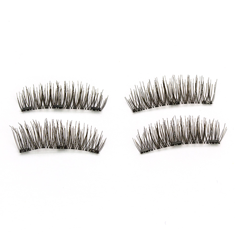 HaHaLash Magnetic Eyelashes 6D eype with three tiny magnets Natural curl Hand Made Factory Sell Eyelashes extention HH-24P-3