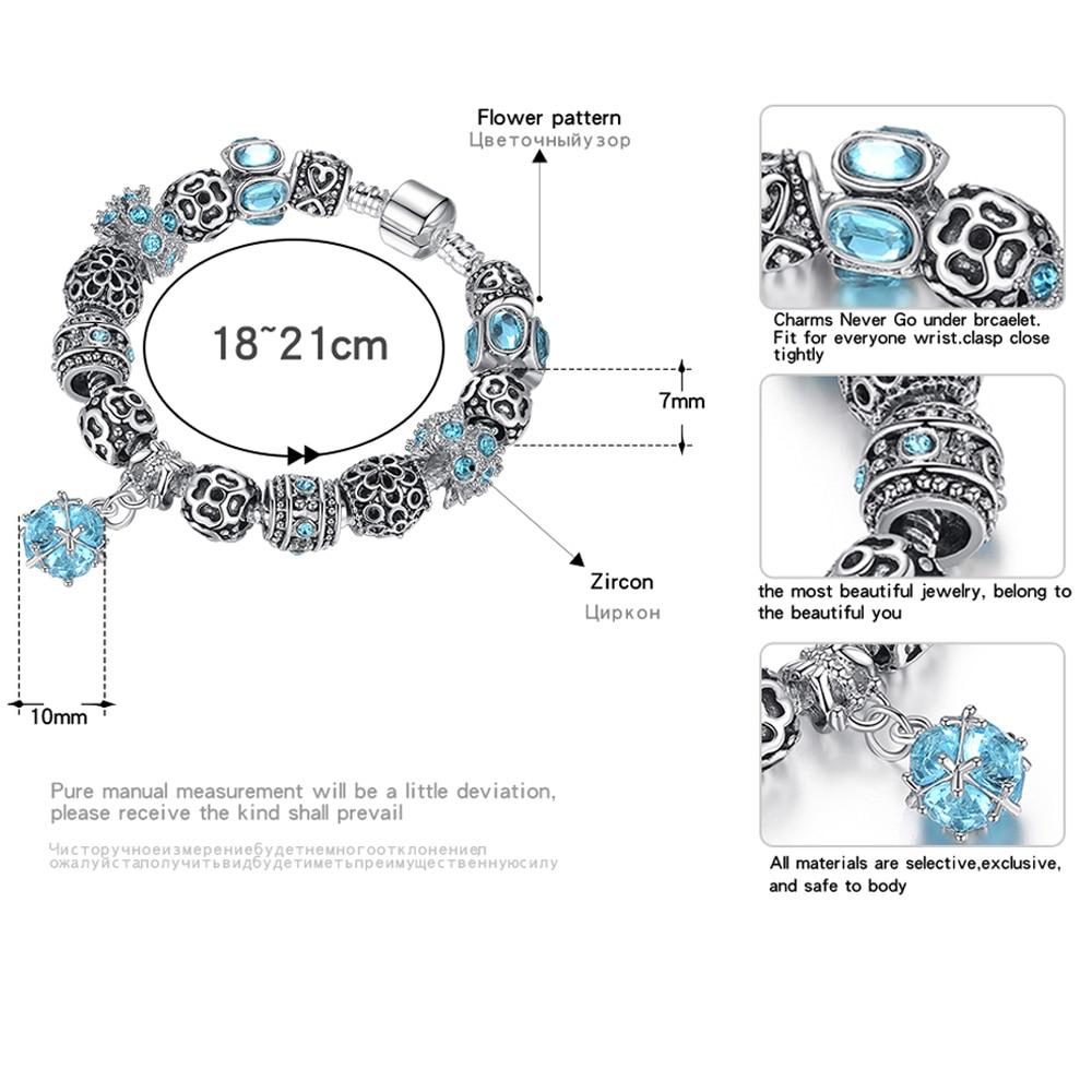 BELAWANG Autentiska Tibeten Silver 925 Uggla Crown Heart Charm - Märkessmycken - Foto 2