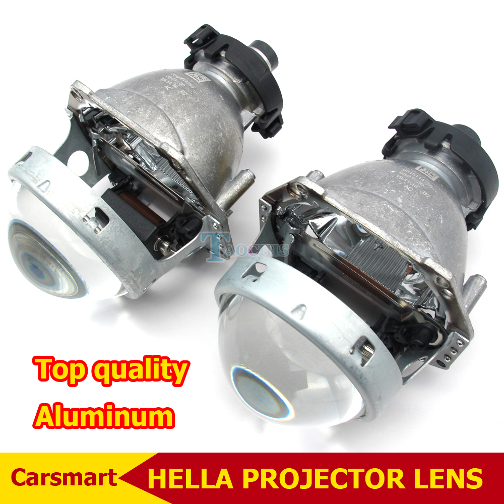 ФОТО 3.0 Inch Bi Xenon Hella Headlamp Projector Lens Aluminum Car Hid Headlight Modify D2S Reflector High low Beam
