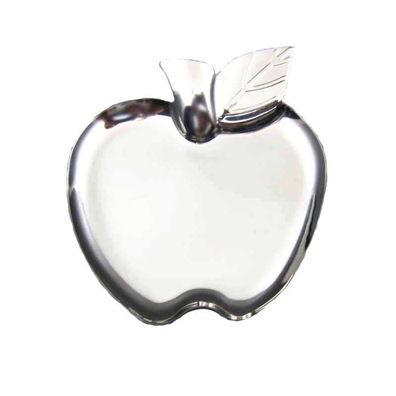 Heart Pattern Ring Dish Tray Stainless Steel Storage Holder Jewelry Display Tray