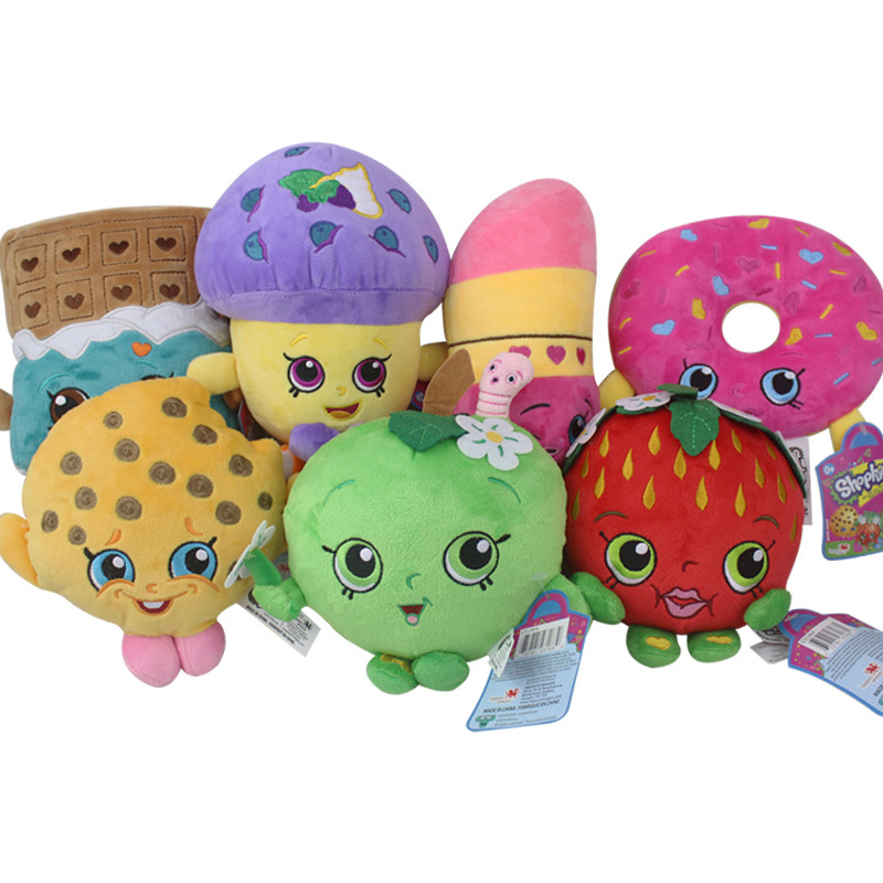 Obliging 7pcs/lot 17-25cm Kawaii Fruit Apple Cookies Strawberry Donuts Lipstick Chocolate Muffin Stuffed Plush Toys Doll For Girls Gifts Toys & Hobbies Dolls & Stuffed Toys
