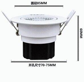 12 Вт удара downlight Epistar потолочный светильник Встраиваемые пятно света ac85v-245v для домашнего освещения Бесплатная доставка