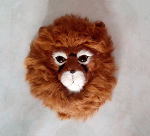 about 24x20cm simulation lion head toy lifelike model wall pendant home decoration gift t138 large 24x24 cm simulation white cat with yellow head cat model lifelike big head squatting cat model decoration t187