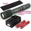 Z5 2000 Lumen Cree XM-L T6 7-Mode LED Flashlight Torch + 2 x 18650 Rechargeable battery + Traval Charger + Holster Free shipping